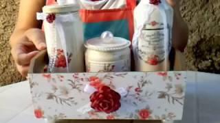 Kit para banheiro – Com potes reciclados