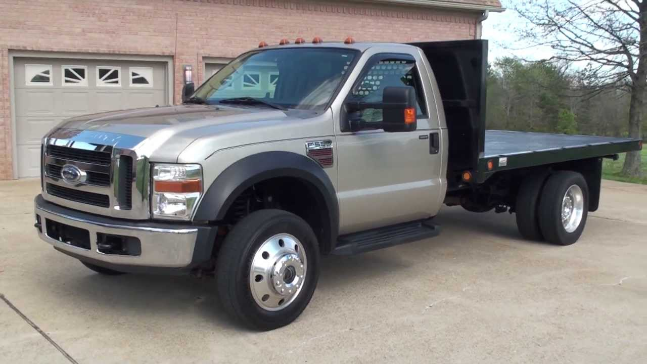Ford F250 Towing Capacity >> HD VIDEO 2008 FORD F550 XLT 4X4 6-SPEED FLAT BED USED TRUCK DIESEL FOR SALE SEE WWW.SUNSETMILAN ...