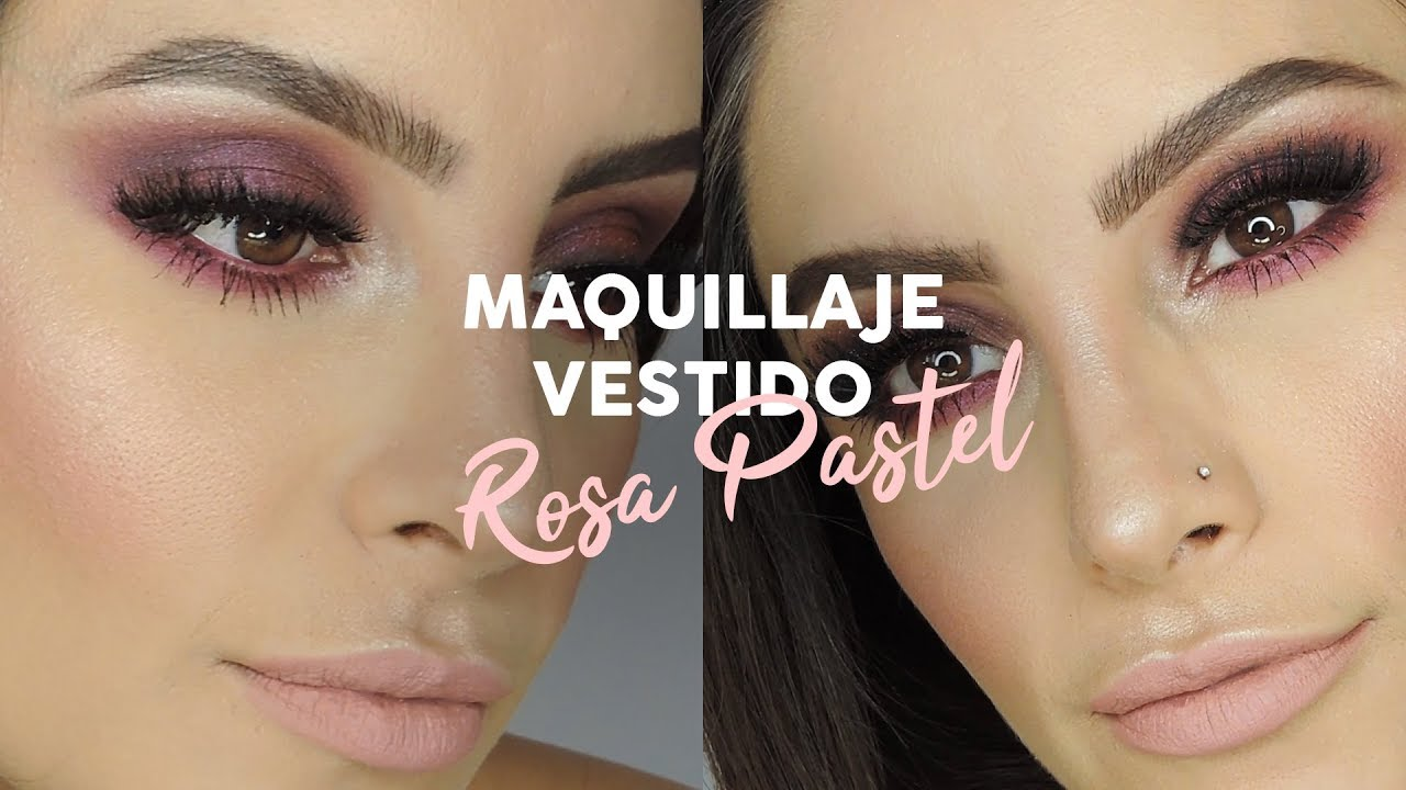 Maquillaje Para Vestido Rosa Y Boda De Día Muakkcom