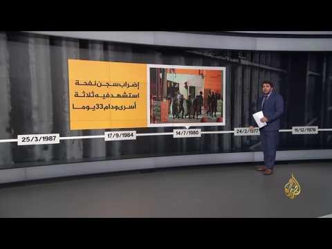 جدول زمني لأبرز الإضرابات في سجون الاحتلال  - 22:21-2017 / 4 / 17