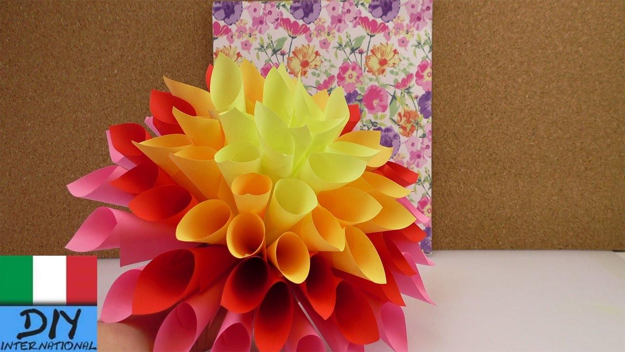 Mazzo di fiori super colorato fiori di carta fai da te for Fiori semplici