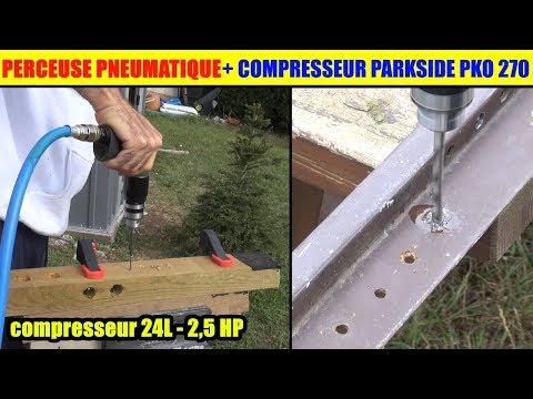 Parkside Perceuse Visseuse Air Comprime Pneumatique Lidl Et Compresseur Parkside Pko 270