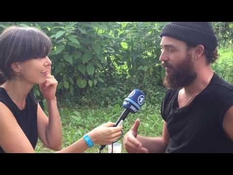 RY X talking about Sacred Ground Festival, Hippies and Howling with German host Christiane Falk