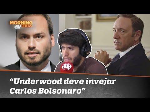 Caio Coppolla: 'Frank Underwood está com inveja de Carlos Bolsonaro'