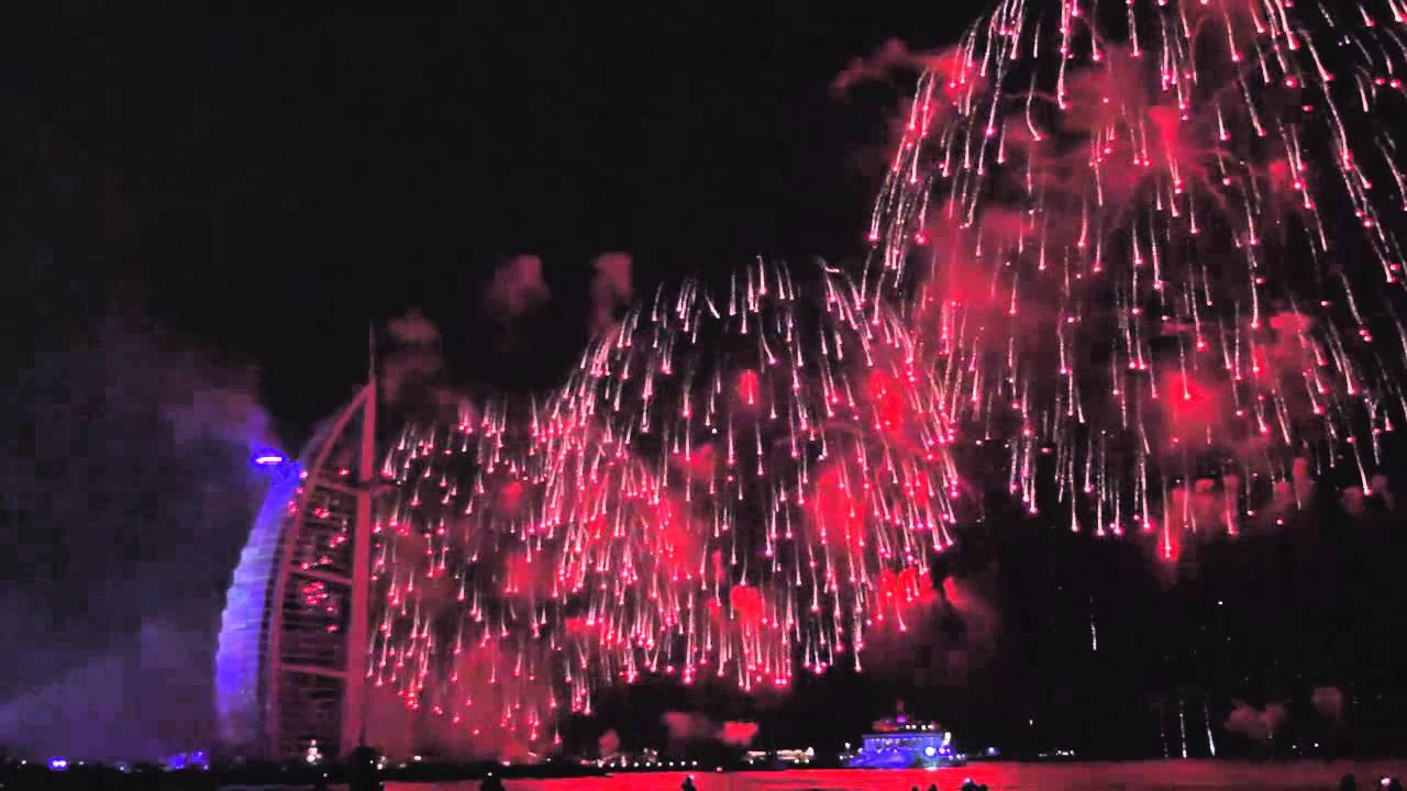 UAE National Day fireworks 2014 at Burj Al Arab