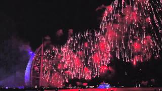 UAE National Day fireworks 2014 at Burj Al Arab