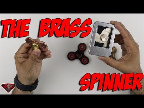 The Triangle Brass Fidget Spinner Unboxing & Review |Bonus: Race Against The Destiny Spinner