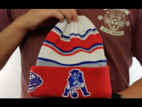 Patriots  THROWBACK WINTER TRADITION  Knit Beanie Hat by New Era ... 4209d0c2134