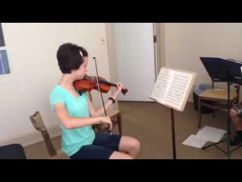 Prelude Chamber Music Camp ensemble rehearsal