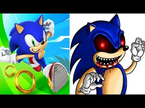 Sonic Dash vs SONIC EXE