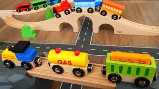 Лайфхаки для детей Видео про Поезда Деревянная Железная дорога и машинки игрушки