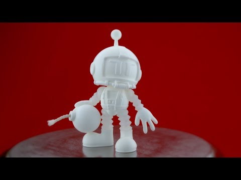 Rotocasting a Resin Toy Figure - the Atomic Bomberman (using Smooth-Cast 65D)