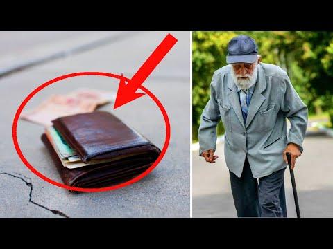 Бездомный СТАРИК нашёл кошелёк с КРУПНОЙ суммой денег. Что он сделал потом, всех УДИВИЛО...