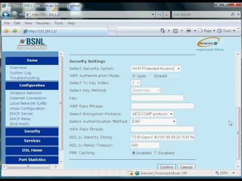 BSNL Broadband modem Configuration(Teracom and Syrma Make Type2 Modems)