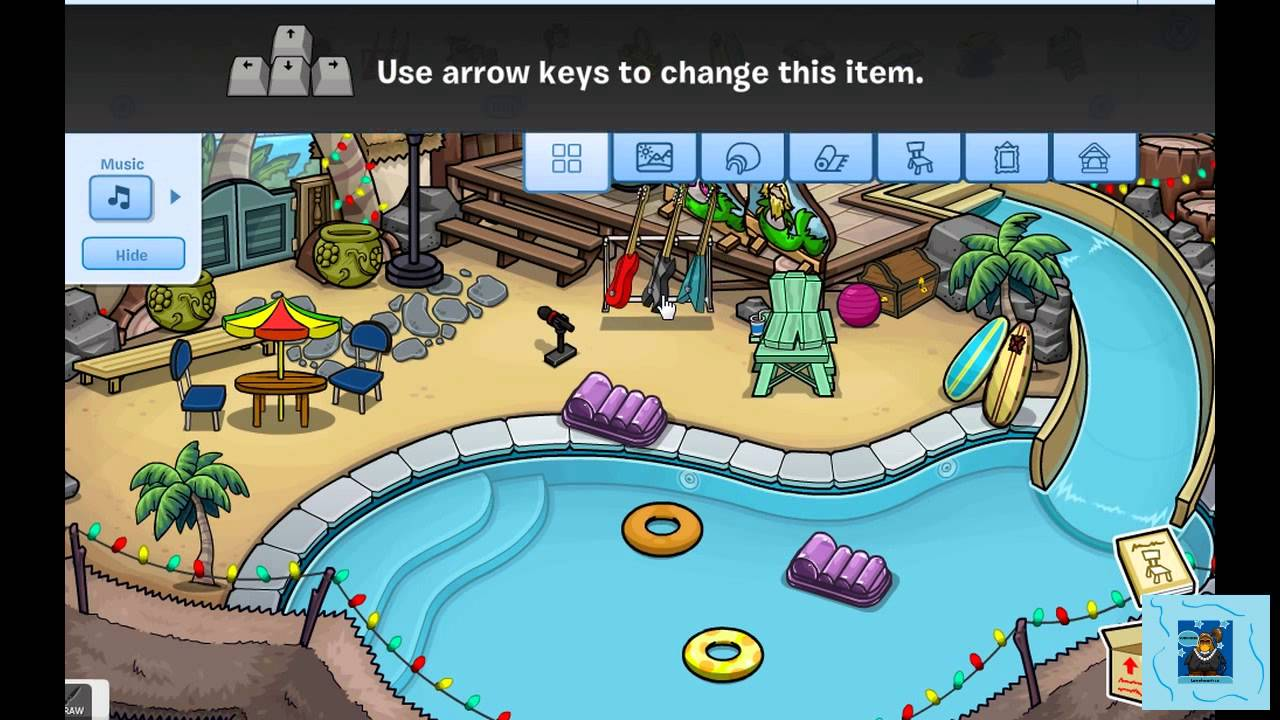 Club penguin igloo ideas pool party youtube for Best club house songs