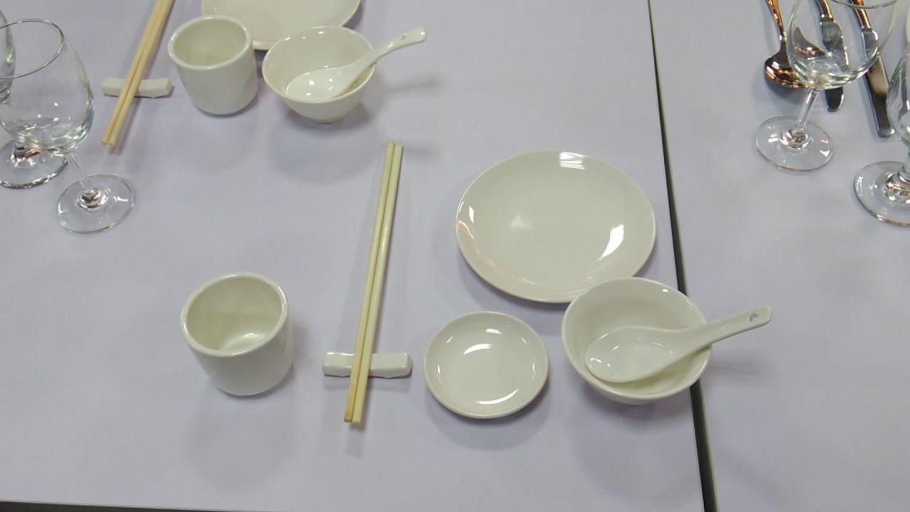 中餐餐具礼仪_1060517餐飲服務餐具擺設-YouTube