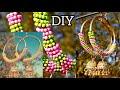DIY Big Size Hoop Jhumka Earrings/Indian Ethnic Partywear Jhumka Hoop Style 2020
