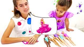 Nastya compra novos bonecos e Artem é recompensado com doces e guloseimas