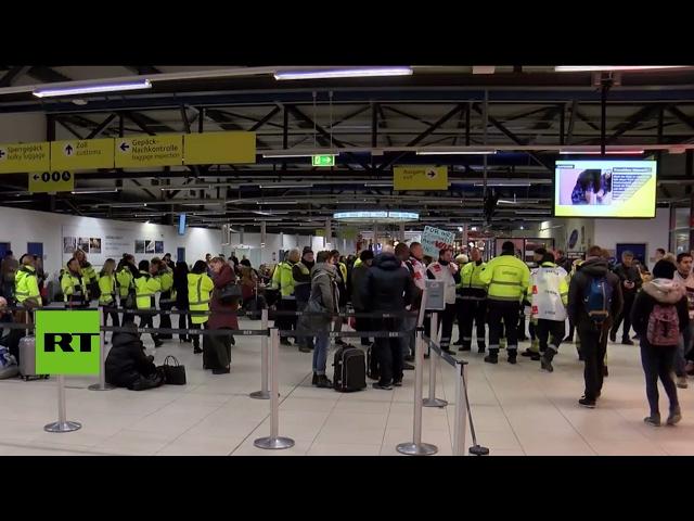 Alemania: huelga de trabajadores en un aeropuerto