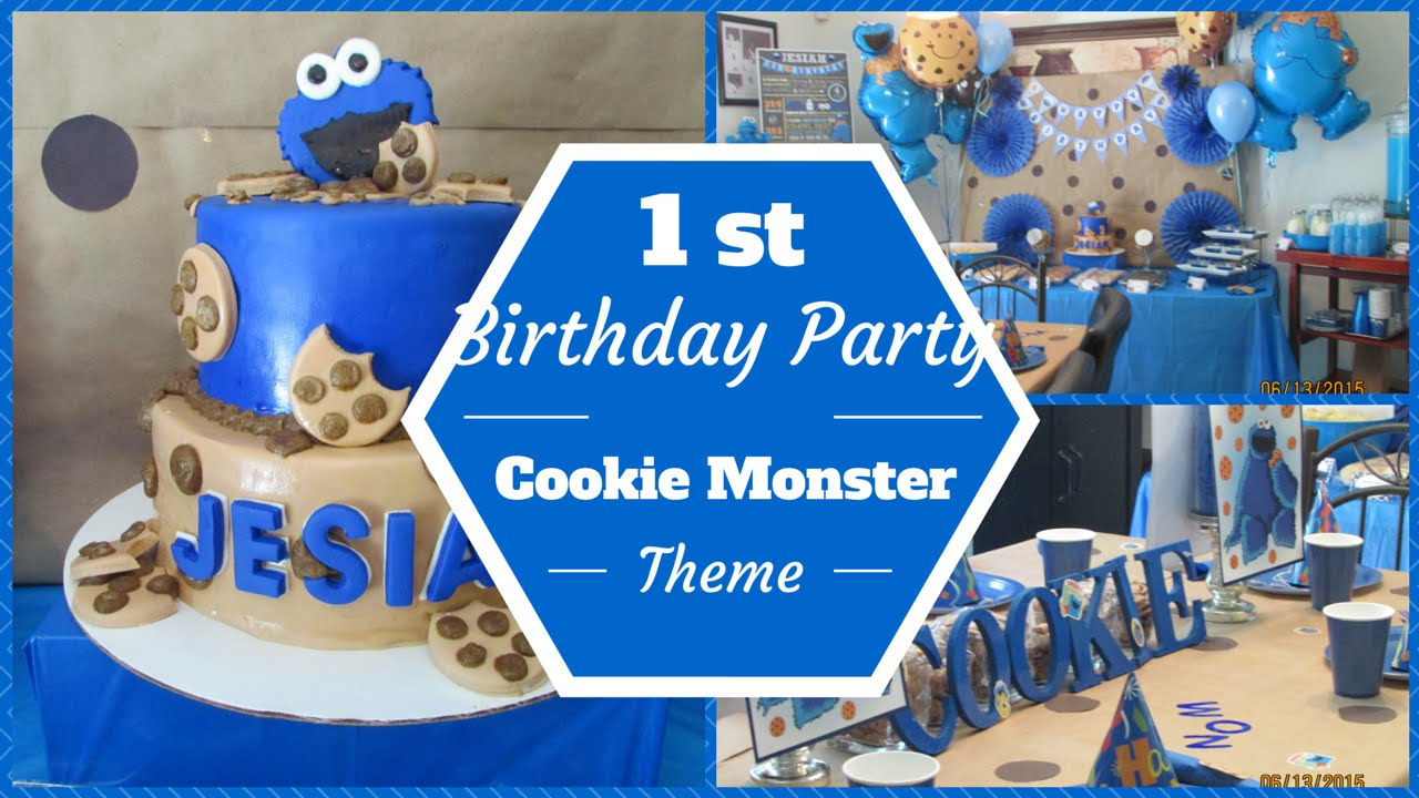 Cookie Monster Theme 1st Birthday Party Dollar Tree Pinterest Inspired