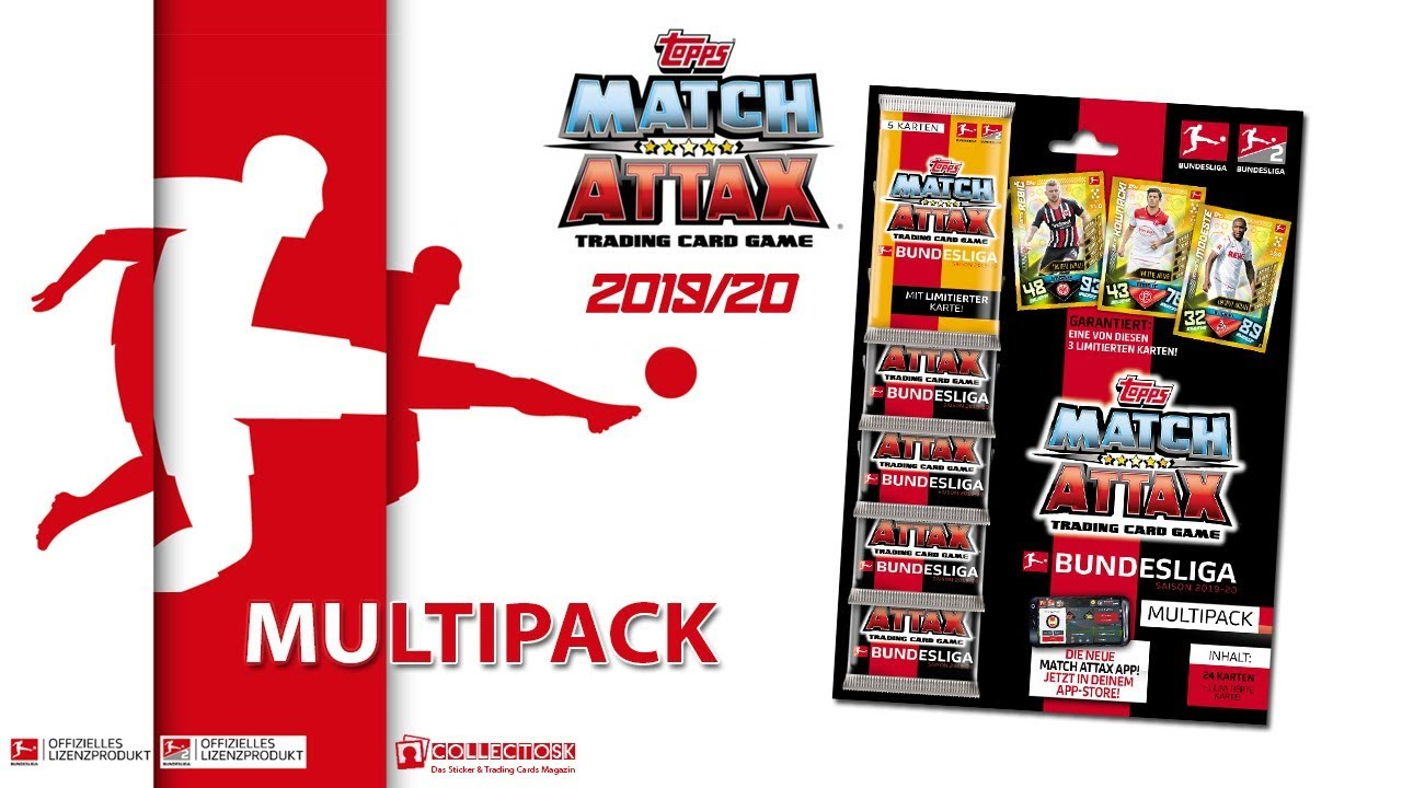 Topps Bundesliga Match Attax 2019 20 Multipack