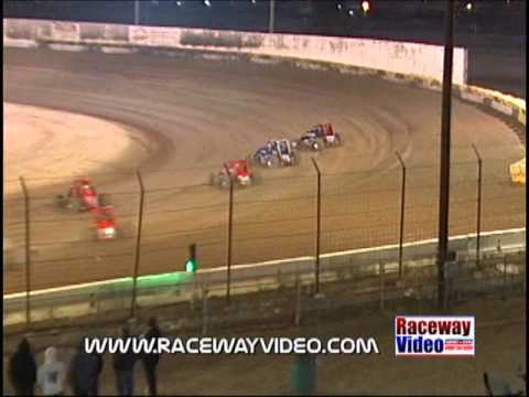 April 19 2008 Open 410 sprint cars at Victorville CA