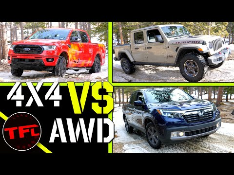 Can A Honda Ridgeline Keep Up With The Old School Ford Ranger & A New Jeep Gladiator Off-Road?
