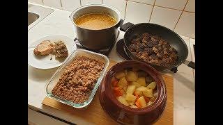 Готовлю одновременно 5 блюд за 35 минут. Простые рецепты. Заготовки еды впрок.