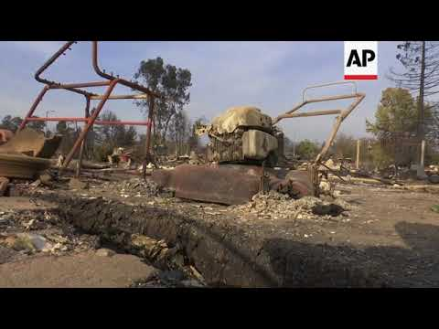 California wildfire victims return to burned homes