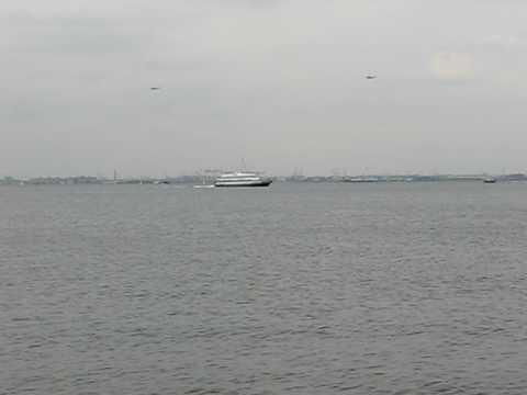 Marine One departs NYC 9/9/09