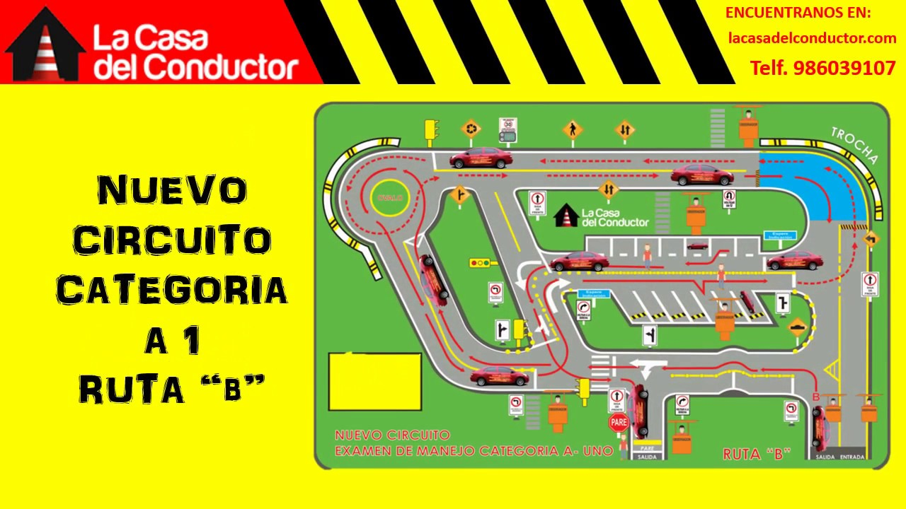 Circuito Touring : Circuito de manejo youtube