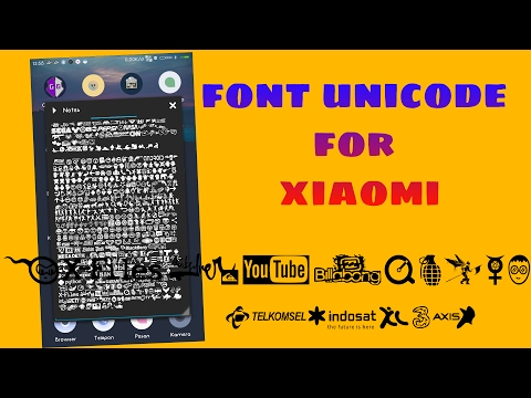 SIMPLE  !! INSTAL FONT UNICODE ALL XIAOMI (ROOT)