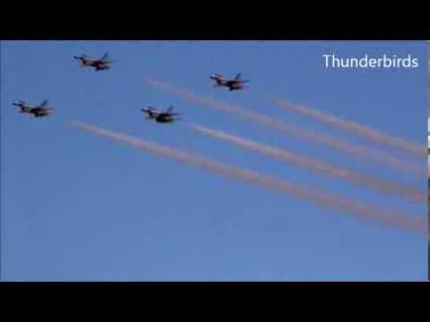 F 35 Lightning Ii Thunderbirds 35 and F-16 with Thunderbirds - YouTube