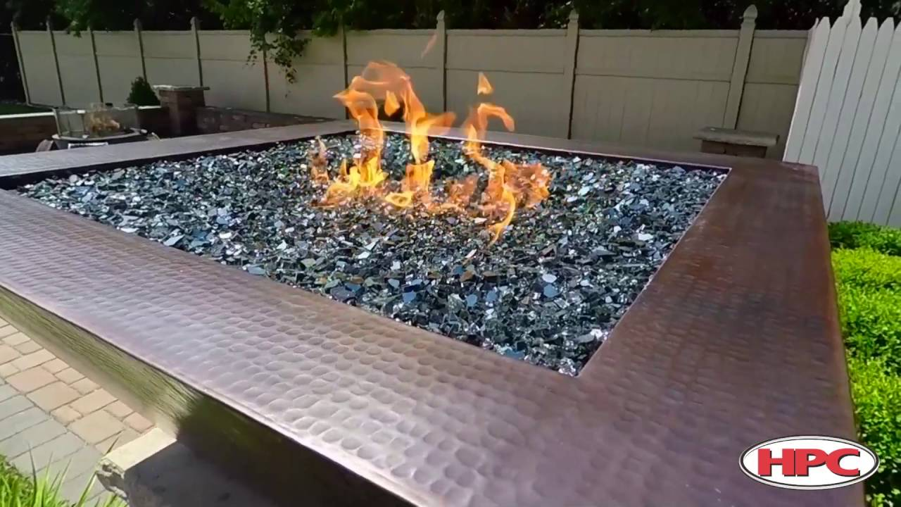 Outdoor Fire Pit Media Reflective Black Glass - Outdoor Fire Pit Media Reflective Black Glass - YouTube