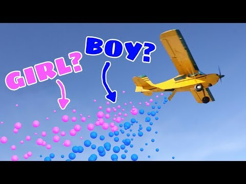 1,500 BALLS DROP!! Airplane Gender Reveal!  (BOY or GIRL)