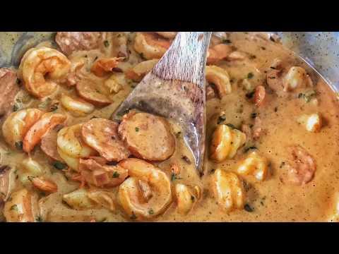 Spicy Shrimp and Sausage Alfredo