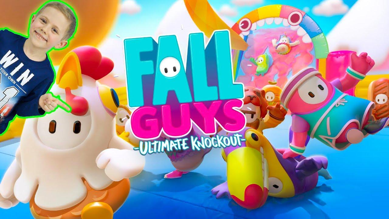 Игра FALL GUYS  и Даник - Смешная аркадная КОРОЛЕВСКАЯ БИТВА для всей семьи. 13+
