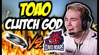 IZAKO BOARS VS AGO ESPORTS !!! TOAO CLUTCH 1vs3 - MISTRZOSTWA POLSKI CSGO