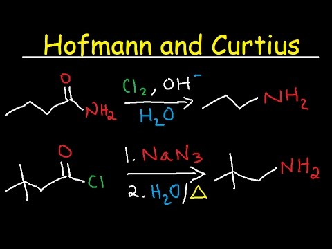 Hofmann Rearrangement and Curtius Reaction Mechanism - Primary Amides & Acid Chlorides to Amines