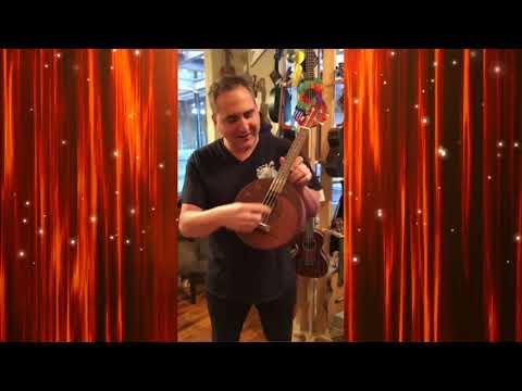 Eddy Finn EF-Moon Mahogany Round Body Concert Ukulele Demo by UKE Republic