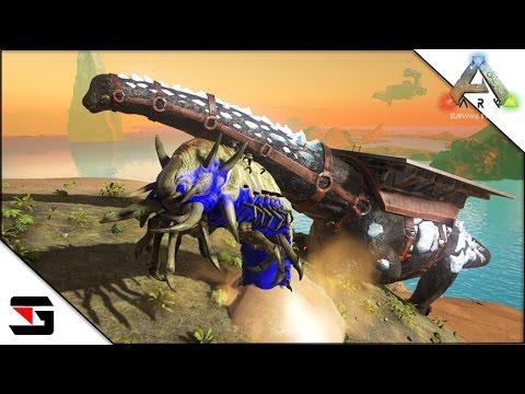 Modded ARK: Survival Evolved - Deathworm & Titanosaur Tamed! (Thieves Island Map)