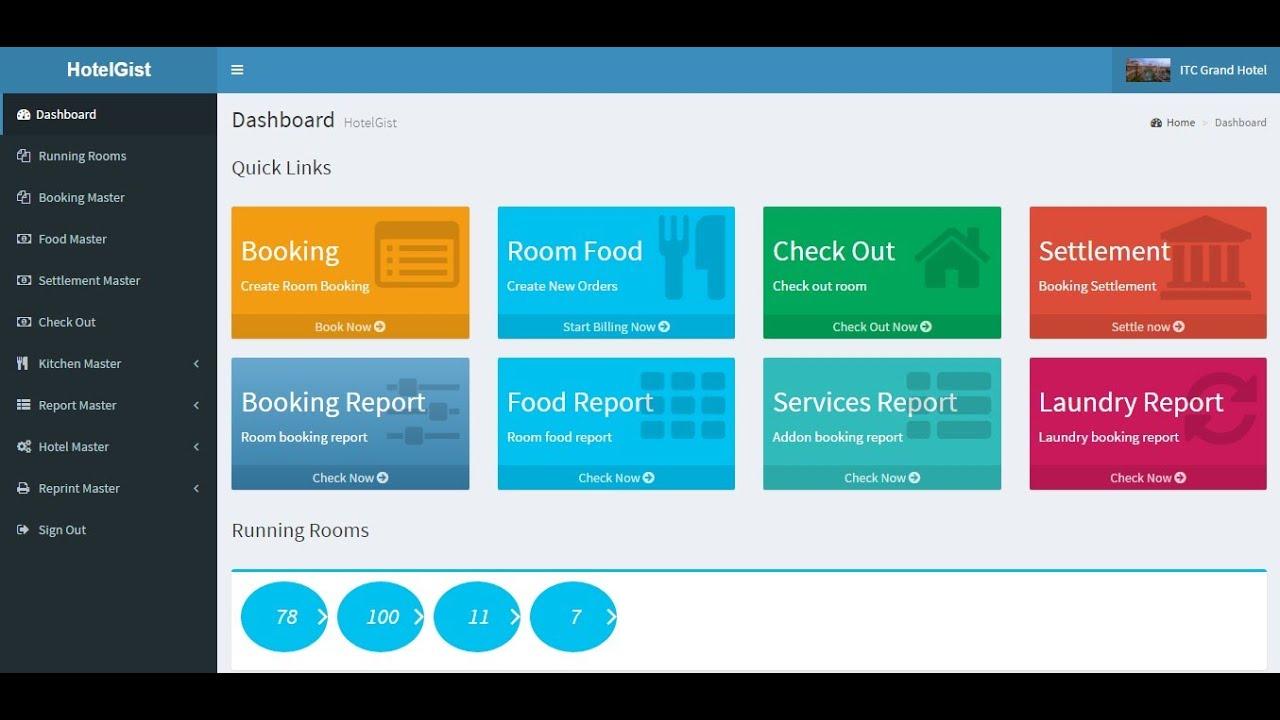 HotelGist, Hotel Management System Source Code