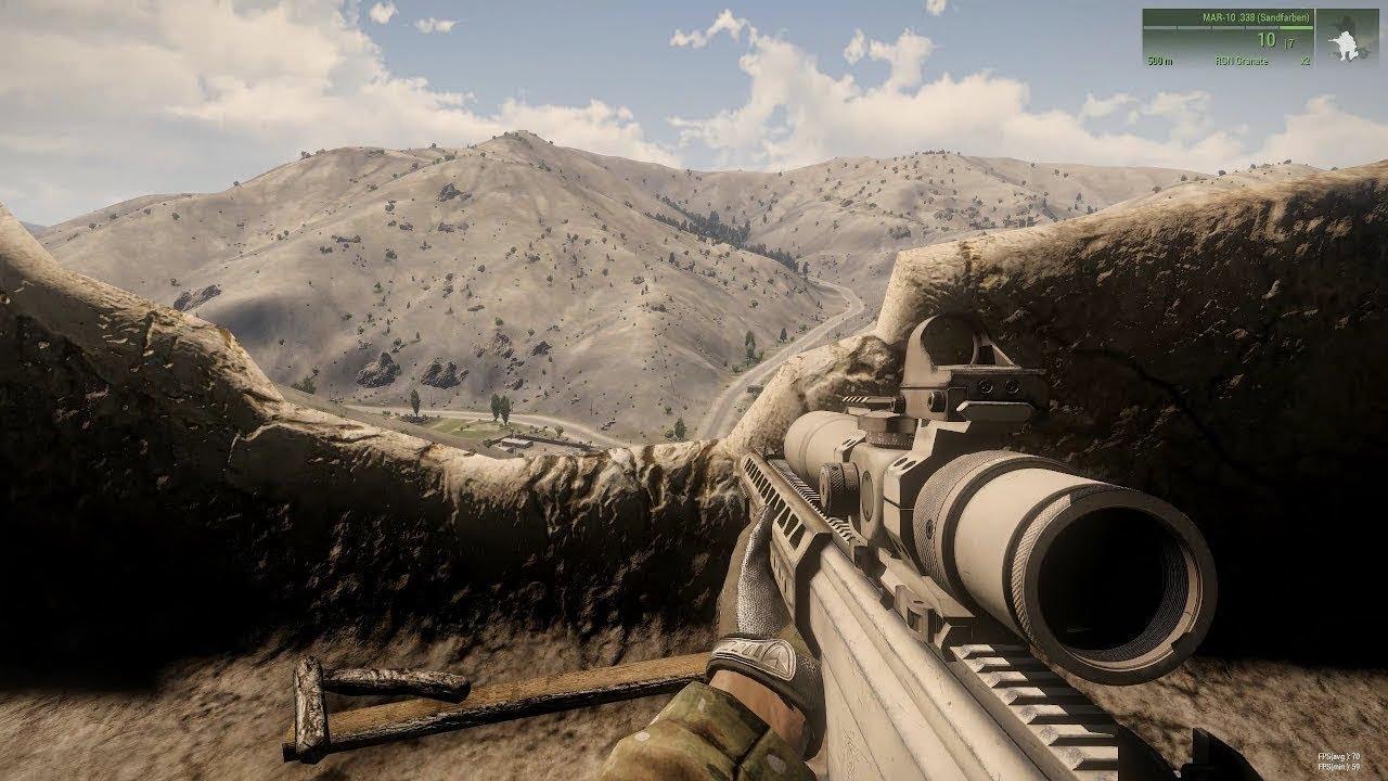 SNIPER VS SNIPER in Military Simulator Game Arma 3 Ace Mod