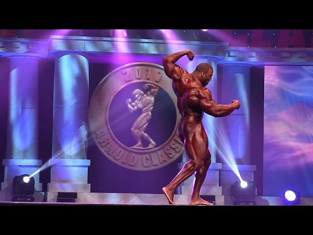2017 Arnolds Classic - Cedric McMillan, Posing, Men's Bodybuilding Open.
