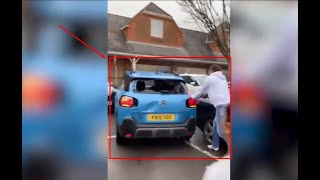 SHOCKING FOOTAGE- AS SHOPPERS TRY TO STOP CAR IN TESCO CAR PARK