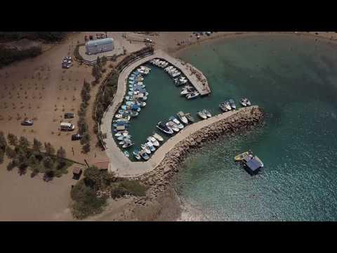 Ayia Triada - Trinity Beach, Protaras, The Island Of Cyprus Aerial View (Ayia Triada Cyprus) 4K