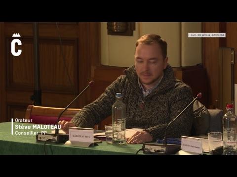Charleroi, séance du conseil communal du 28 janvier 2019