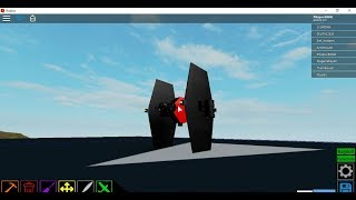 How to build a Tie-fighter in roblox plane crazy