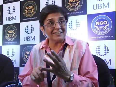 Kiran Bedi shares her views at The Giving Back NGO India 2013