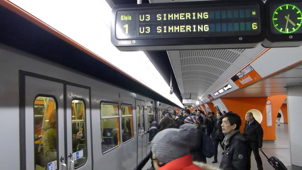 U Bahn Wien Der U Bahnhof Westbahnhof U3 1080p Hd Youtube